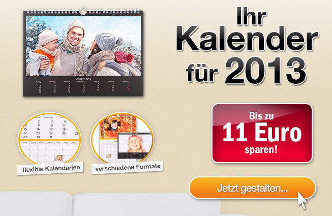 euer kalender f r 2013 spart bis zu 11 euro. Black Bedroom Furniture Sets. Home Design Ideas